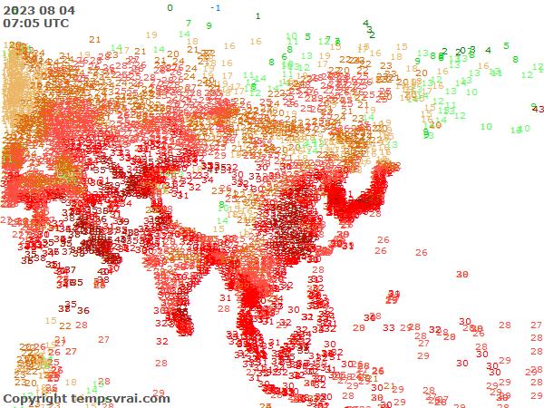 Aktuelle Messwerte für Asien