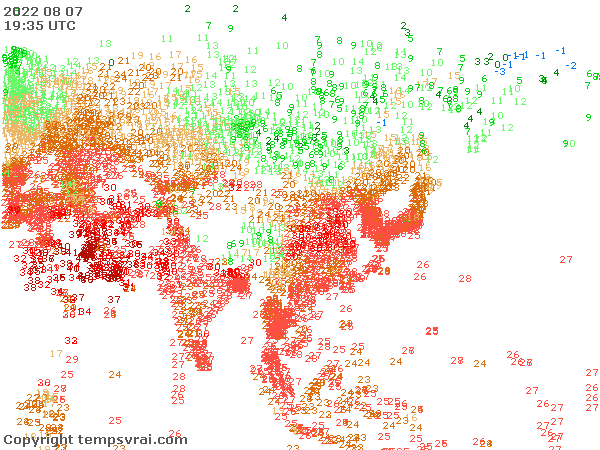 Observations for Asia