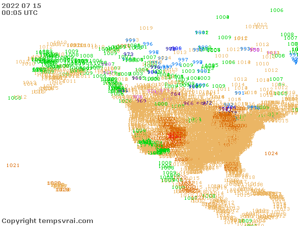 Aktuelle Messwerte für Nordamerika