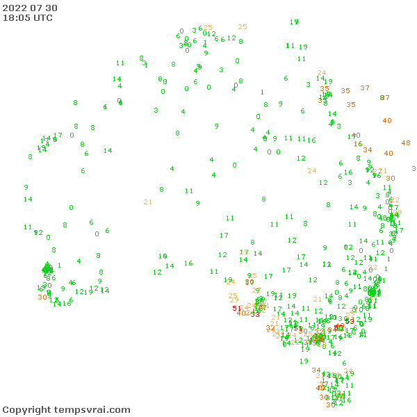 Observations for Australia