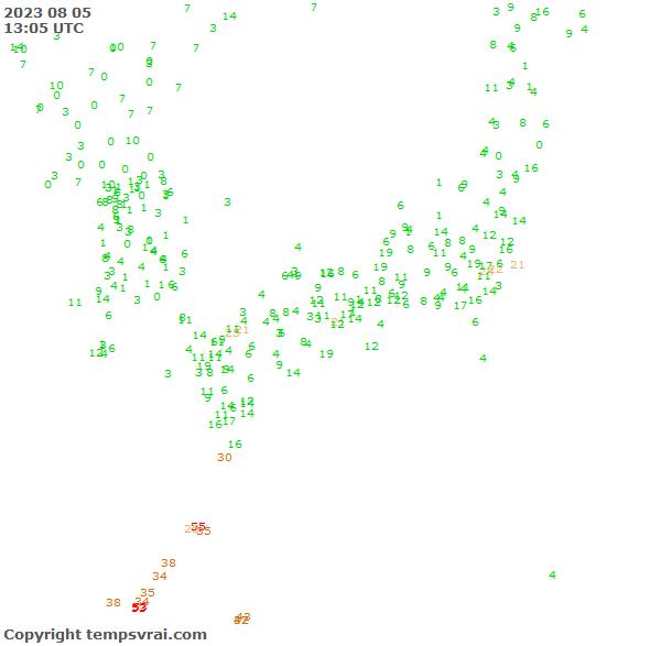 Aktuelle Messwerte für Japan