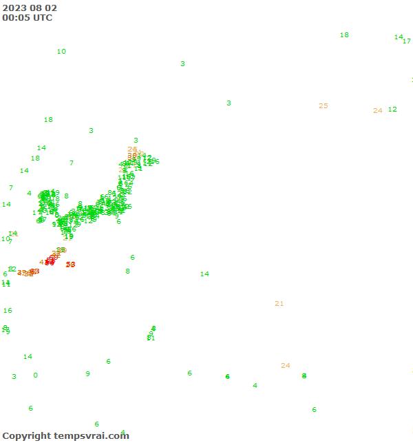 Aktuelle Messwerte für Pazifik Nordwest