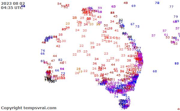 Aktuelle Messwerte für Australien