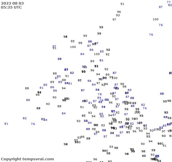 Observations for United Kingdom