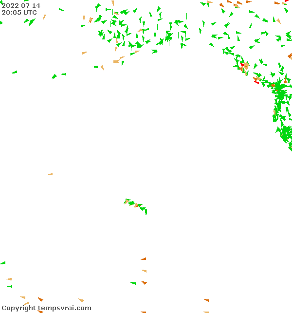 Aktuelle Messwerte für Pazifik Mitte Nord