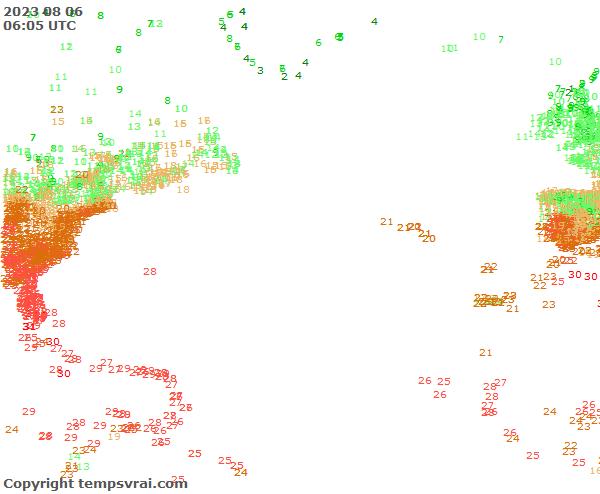 Aktuelle Messwerte für Atlantik Nord