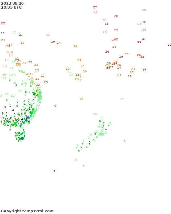 Aktuelle Messwerte für Pazifik Südwest