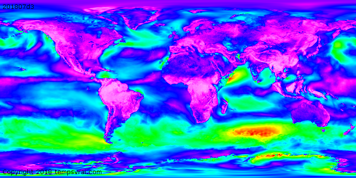Klimadekaden Windstärke