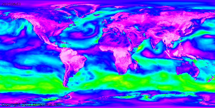 Climate decades Wind speed at 1000 hPa