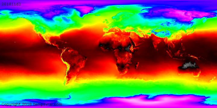Klimadekaden Temperatur