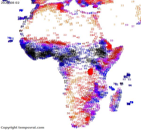 Aktuelle Vorhersage für Afrika