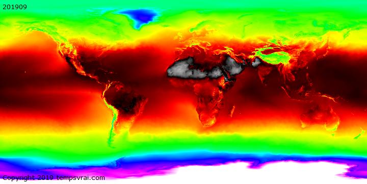 Worldwide weather history